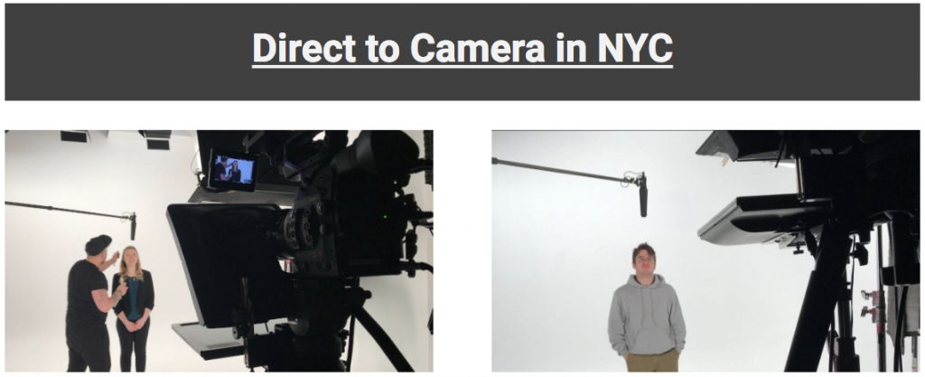 direct to camera video