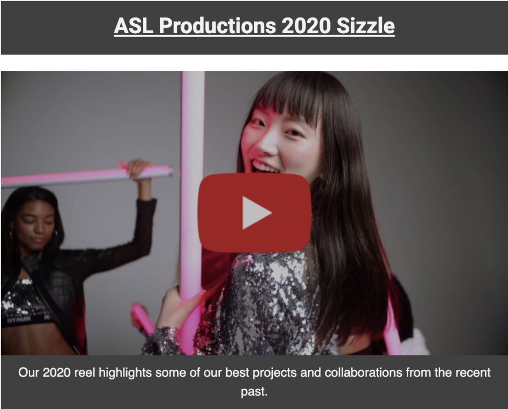 Video Production Sizzle