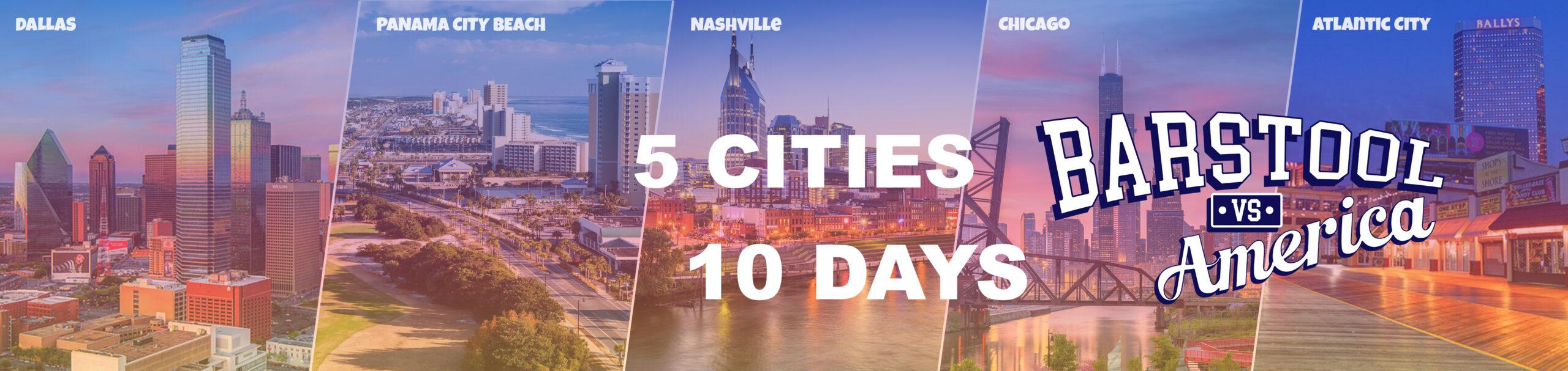 5 Cities, 10 Days to Produce Barstool Vs America